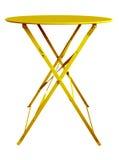 折叠式小桌黄色 免版税库存照片