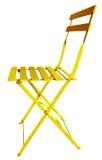折叠椅黄色 免版税库存图片