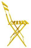 折叠椅黄色 免版税库存照片