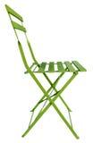 折叠椅绿色 库存照片