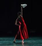 折叠的爱好者现代舞蹈 免版税库存照片