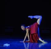 折叠的爱好者现代舞蹈 免版税库存图片