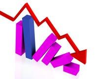 折叠金融市场 库存照片