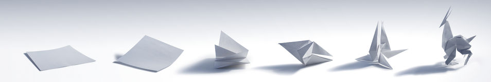 折叠Origami动物 库存图片