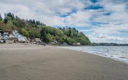 破折号点的海岸线 免版税库存图片