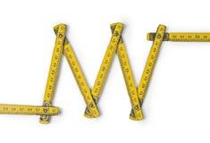 折尺之字形之字形 库存照片