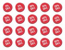 折扣标号组,销售标记,出价 向量例证