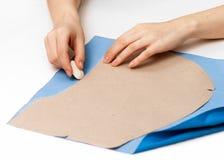 抚摸在织品的模式 库存图片