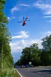 抢救乘直升机 图库摄影
