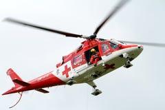 抢救直升机航空运输斯洛伐克 图库摄影