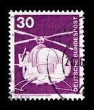 抢救直升机MBB、产业和技术Definitives 1975-1982 serie,大约1975年 库存照片