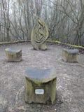 护城河公园雕塑,梅德斯通,肯特,梅德韦,英国英国 免版税图库摄影
