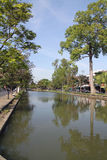 护城河在清迈 免版税库存照片