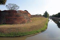 护城河在清迈 图库摄影