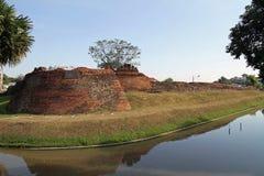 护城河在清迈 库存图片