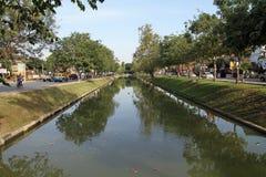 护城河在清迈 免版税图库摄影