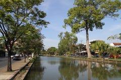 护城河在清迈 免版税库存图片
