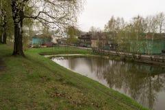 护城河在Galich市 免版税库存图片