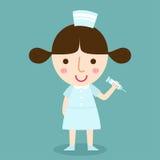 护士传染媒介 免版税库存图片