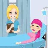 护士参观前辈妇女 免版税库存图片