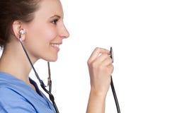 护士听诊器 库存图片