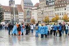 护士和关心助理抗议在法国 库存图片