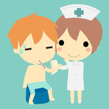 护士和患者 皇族释放例证