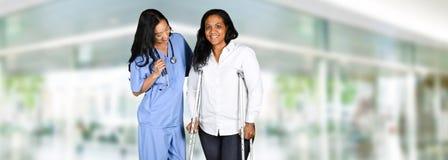 护士在医院 免版税库存照片