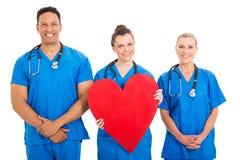 护士心脏形状 免版税库存图片
