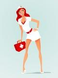 护士性感的向量 免版税库存照片
