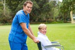 护士患者 免版税库存照片