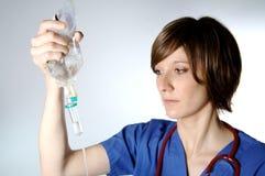 护士灌注 免版税库存图片