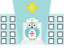 护士猫头鹰 免版税库存图片