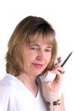 护士电话 免版税库存照片