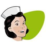 护士的减速火箭的例证 免版税库存图片