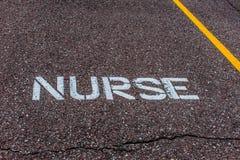 护士的后备的停车位 免版税库存图片