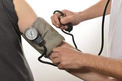 护士监视血压 库存照片