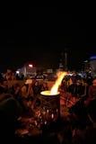 护拦在Maidan的Nezalezhnosti冲突区域 免版税库存图片
