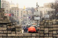 护拦maidan在乌克兰 免版税库存图片