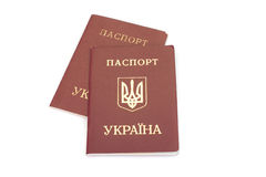 护照乌克兰语 免版税库存图片