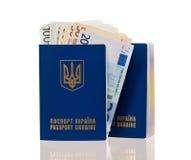 护照乌克兰 免版税图库摄影