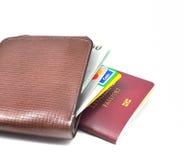 护照和钱包 免版税库存照片