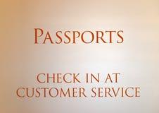 护照客服办公室的标志 库存照片