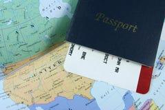护照旅行 库存图片