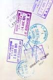 护照标记签证 图库摄影