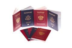 护照栈 库存照片