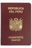 护照秘鲁人 免版税图库摄影