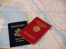 护照苏维埃 库存照片