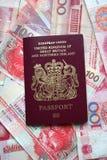 护照英国 免版税库存图片
