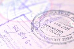 护照邮票背景 库存图片